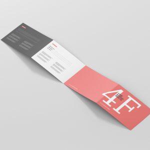 4 Fold Brochure Mockup Din A4 Landscape