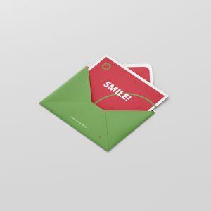 Greeting Card Mockup with Envelope