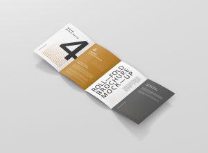 Roll-Fold Brochure Mockup Din A4 A5 A6