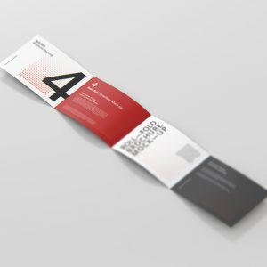 Roll-Fold Brochure Mockup Landscape Din A4 A5 A6