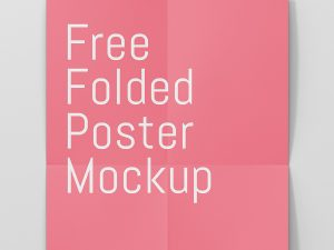 Poster Mockup Free Download Closeup