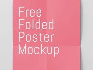 Poster Mockup Free Download Closeup