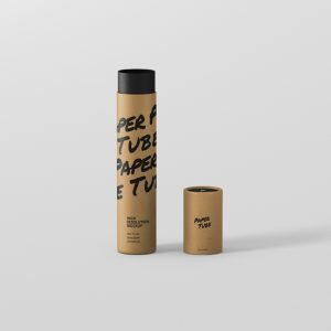 Paper Tube Mockup Slim Long Size