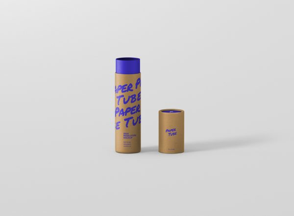 Paper Tube Mockup Slim Medium Size