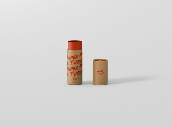 Paper Tube Mockup Slim Short Size