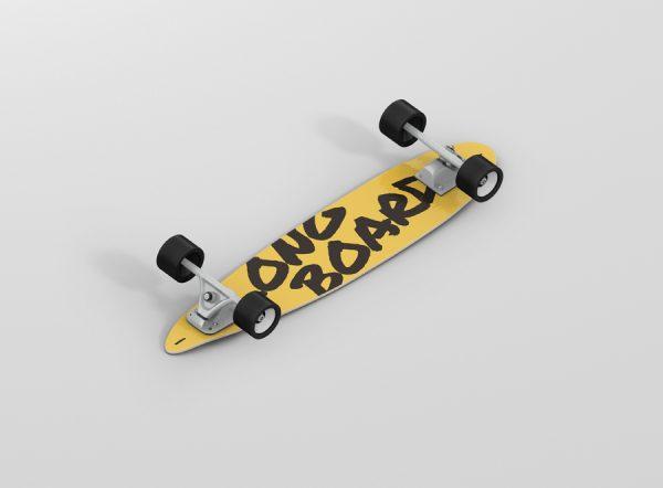 Skateboard Longboard Mockup