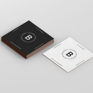 Business Card Mockup Square Format