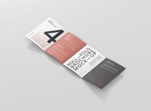 Roll-Fold Brochure Mockup 8.5×11 inch US Letter